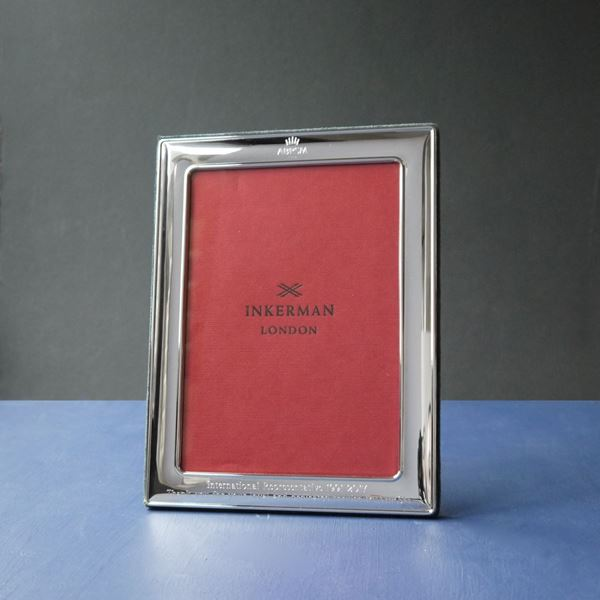 Sterling Silver Photograph Frame with Mahogany Back