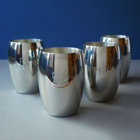 Pewter Cups with Initials