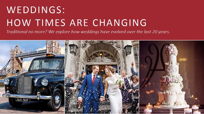 Weddings - times are changing