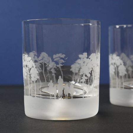 Personalised Snowflake Etched Glass Tumbler