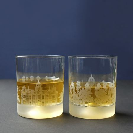 Picture of Westonbirt School Skyline Etched Glass Tumblers
