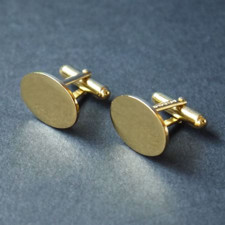 Gold plated wing back cufflinks