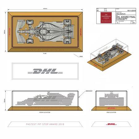 Design Drawing for Formula 1 Fastest Pit Stop Award