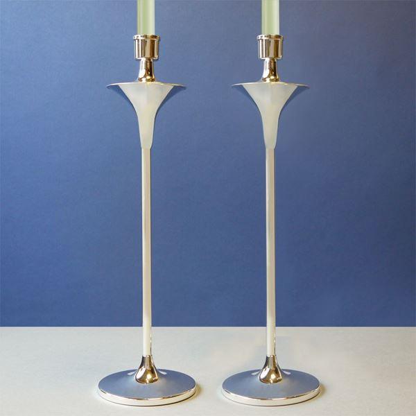 Richmond Tall Sterling Silver Candlesticks