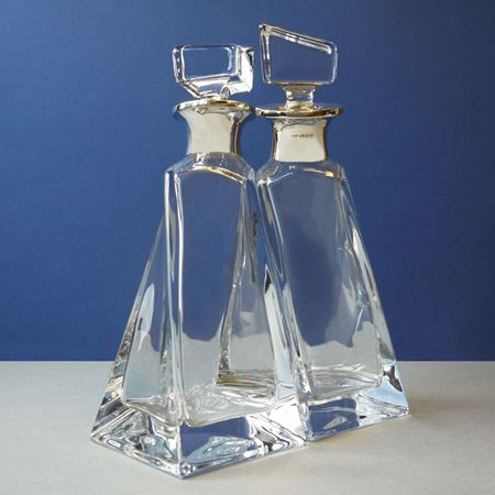 Twisted sterling silver neck decanter