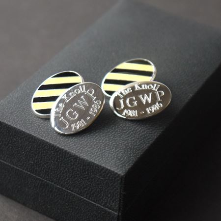 "Sterling Silver ""The Knoll"" Cufflinks"