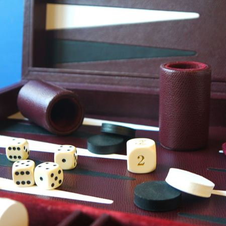 Large Leather Backgammon Board