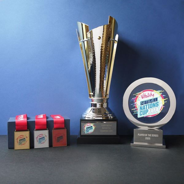 Vitality Netball Trophy and Medals