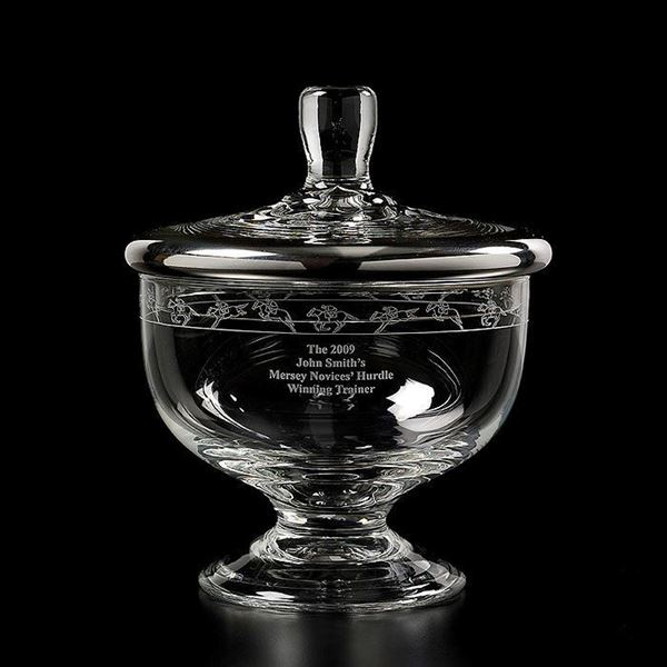 Silver Trim Bonbon Jar