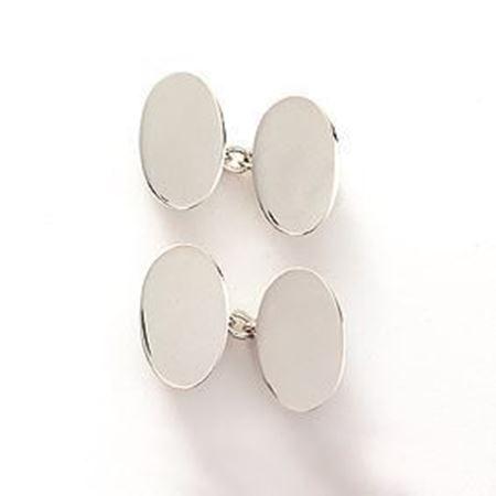 Sterling silver chain link cufflinks