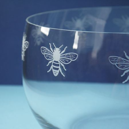 Large Glass Bee Bowl