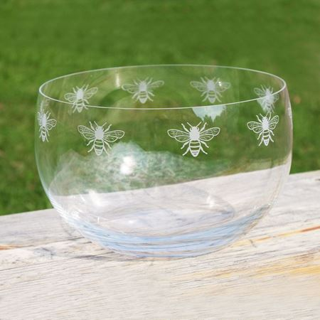 Picture of Large Glass Bee Bowl
