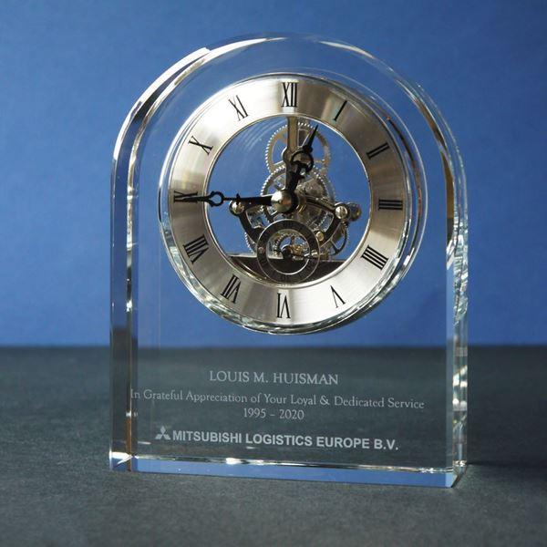 crystal-arch-presentation-clock