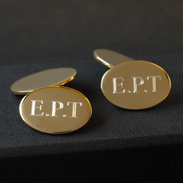 gold-plated-oval-cufflinks