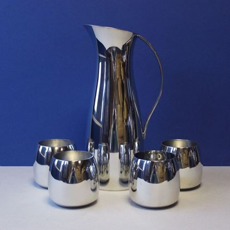 Pewter Westminster Jug and Chelsea Tumbler Set