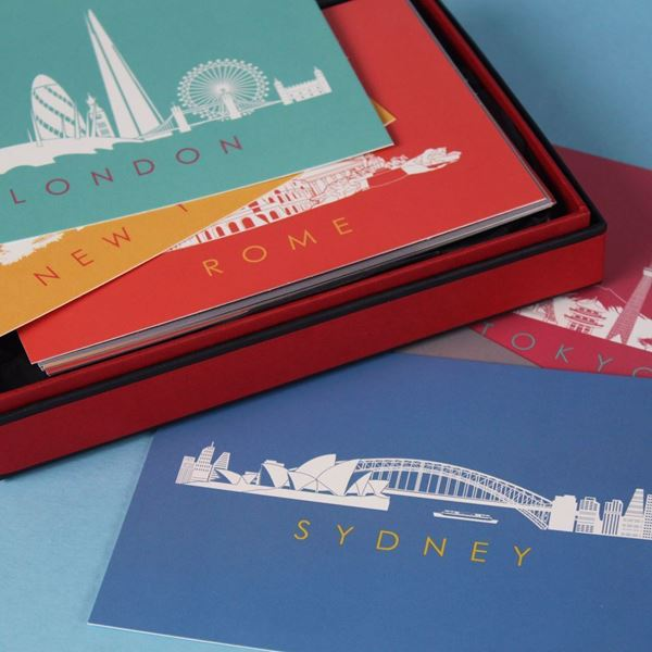 Picture of Boxed Set of 24 City Skyline Postcards