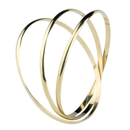 9ct Gold triple Rolling Bangle
