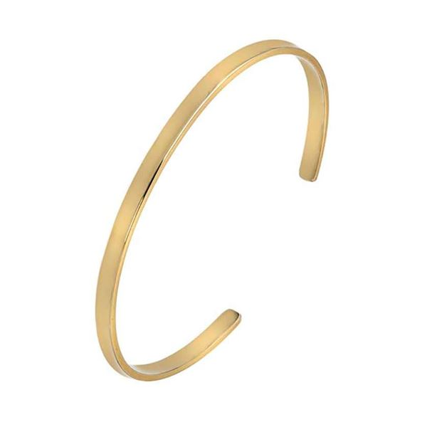 9ct Gold Rectangular Bangle