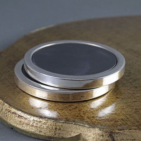 Sterling Silver and Slate Coaster