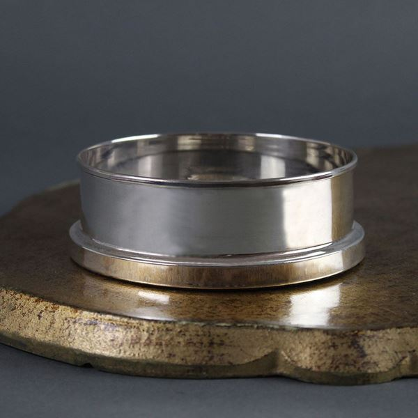 Sterling Silver and Slate Wine Coaster