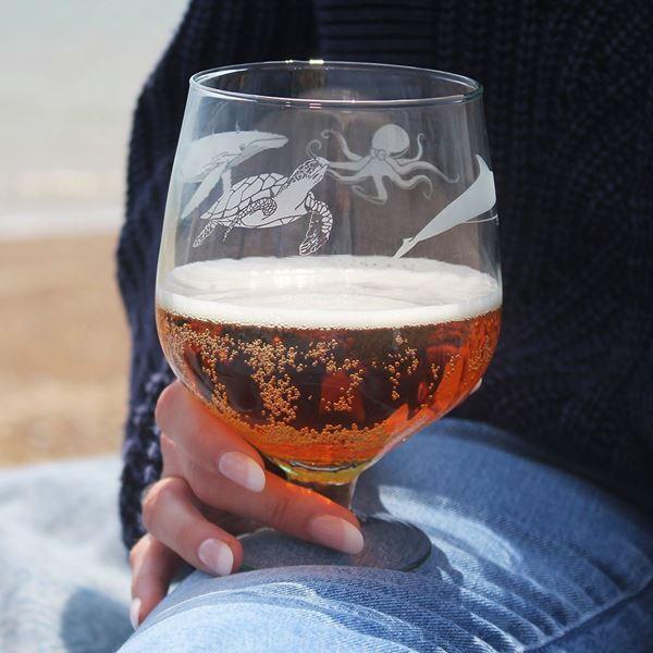 Recycled Ocean Beer Glass